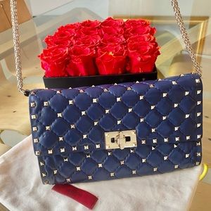 🎉HP🎉 NWT Auth Valentino Rockstud Spike Chain Bag